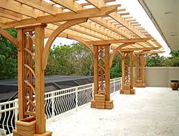 cantilevered deck pergola no ctp1 by trellis structures