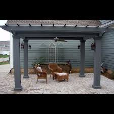 square fiberglass outdoor pergola kit column centers 12 u0027 x 12