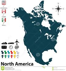 North America Political Map by Political Map Of North America Stock Photo Image 34917840