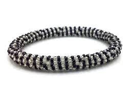 glass beads bracelet images Handmade in nepal glass bead roll on bracelet crocheted bangle jpg
