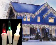red and white bulb christmas lights christmas curb appeal country crafts wreaths and window
