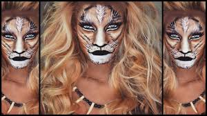 lion halloween makeup tutorial nikki french youtube
