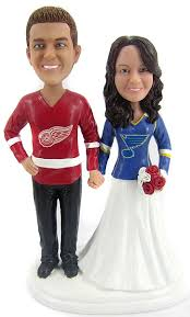 hockey cake toppers custom hockey wedding cake toppers sculpted to look like you