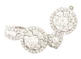 back diamond earrings buy 1 09 carats 18k white gold back diamond earrings online