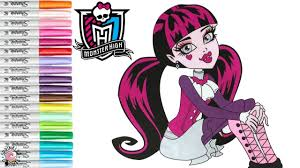 monster high coloring book pages draculaura colouring mh