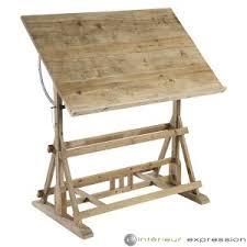 bureau d architecte vente de bureaux architecte de style bois brut table de tavail