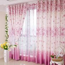 Pink And Purple Curtains Pink Purple Living Room Or Bedroom Flower Pattern Curtains