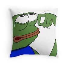 Meme Pillows - crying pepe the frog meme throw pillows want pinterest frogs