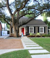 red door and black shutters on gray house outdoors pinterest