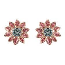 pink diamond earrings argyle green blue pink diamond flower earrings betteridge