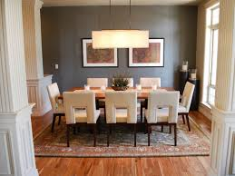 nice window on calm wall paint facing dining room lighting