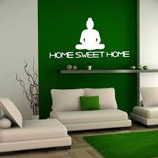 Buddha Home Decor Statues Buddha Statue Home Sweet Home Wall Sticker Vinyl Removable Home