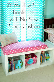 Cushions For Window Bench Diy Window Seat Bookcase With No Sew Bench Cushion Window