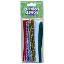 christmas themed arts and crafts coloured pipe cleaners u2013 lilbits