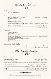 Ceremony Order For Wedding Programs Wedding Programs Wedding Program Wording Program Samples Program