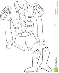 prince u0027s clothes coloring page stock illustration image 50448546