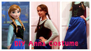 diy anna costume from frozen halloween costume makeup u0026 hair