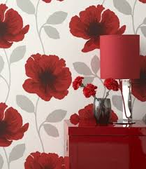 Room Decorating Poppy Flower Wallpaper - Poppy wallpaper home interior