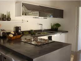 cuisine béton ciré plan de travail cuisine en béton ciré gris anthracite