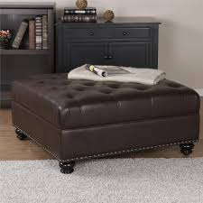 Ottoman Faux Leather Bed Dorel Living Hastings Brown Tufted Faux Leather Ottoman Brown