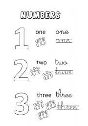 english teaching worksheets numbers
