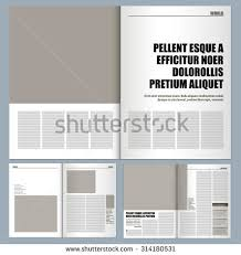 layout template en français modern magazine layout template stock vector 314180531 shutterstock