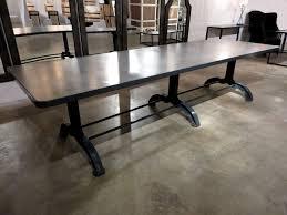 table concrete top dining cement hudson goods wonderful targovci com
