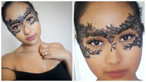 lace masquerade mask diy halloween makeup youtube