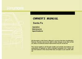 2006 hyundai santa fe manual 2011 hyundai santa fe owner s manual pdf 408 pages