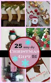 Homemade Christmas Gifts by 25 Diy Easy Christmas Gift Ideas Pinkwhen