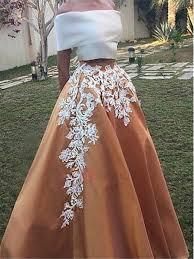 vintage off the shoulder appliques two piece prom dress tidebuy com