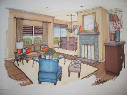 interior design marker rendering interior design sketches