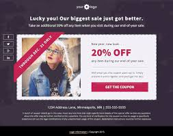 landing page download free coupon template