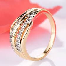 gold color rings images China new fashion female wedding bands jewelry gold color jpg