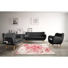 ensemble de canapé ensemble canapés simili 3 2 places style scandinave oslo pas cher