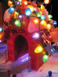 charlie brown christmas lights image result for make charlie brown christmas dog house decorations
