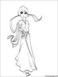 rukia kuchiki bleach coloring page coloring pages