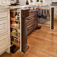 kitchen storage cabinets for spices and cooking utensils kountry
