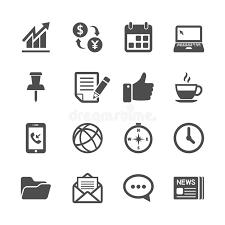 telecharger icone bureau affaires et ensemble d icône de travail de bureau vecteur eps10