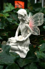 beautiful felicity garden ornament with solar light up wings