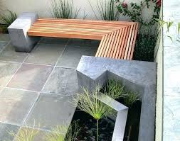 Concrete Patio Tables And Benches Outdoor Cushions Diy Patio Bench Outdoor Concrete And Timber Bench