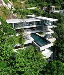 hillside home plans basement sloping lot hoe inspirations modern