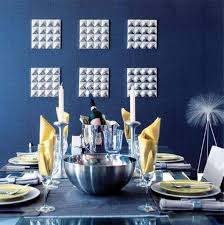 dining navy blue room ideas with silver wall decor navy blue