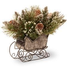 martha stewart living 10 in glittery bristle pine artificial