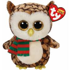 amazon com ty beanie boos wise owl with scarf and freeze penguin