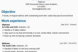 Resume Sample For Waiter Position by Restaurant Server Experience Resume Examples Waiter Resume Sample