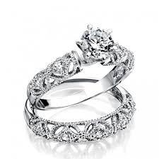 style wedding rings images 925 silver vintage 75ct round cz engagement wedding ring set jpg