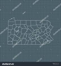 Map Of Pennsylvania by Map Pennsylvania Stock Vector 588019898 Shutterstock