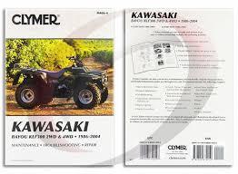 1986 2004 kawasaki klf300 2wd bayou repair manual clymer m466 4