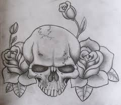 skull and roses by ifinch on deviantart